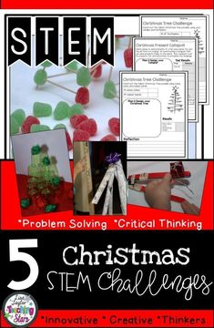 December STEM Activities includes five different STEM challenges that your students will love! Students plan, design, engineer, and collect data as they are having fun before the holidays! These activities can also be used for STEAM Activities, Maker Spaces, Tinkering Labs, or After School Clubs.