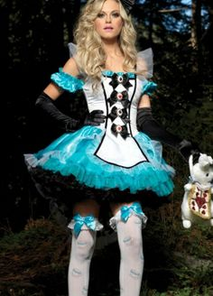 Deluxe Charming Alice Halloween Costume Costumes Fairy Tales