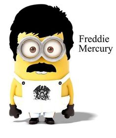Freddy Mercury Minion, oh my actual freaking stars this is too much! obsessed