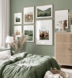 Bedroom Green, Green Rooms, Home Bedroom, Bedroom Decor, Bedrooms, Inspiration Wall, My New Room, Sweet Home, New Homes