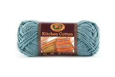 KITCHEN COTTON- BLUE ICE - Made in the USA, this classic worsted-weight cotton is perfect for kitchen items and bath accessories. Its bright, retro-inspired palette is ideal for stripes, ripples, and colorwork projects. The smaller size of the skeins means that you can mix and match your own color palette affordably.