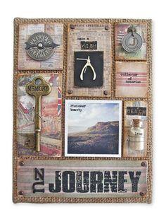 tim holtz corked dome creations | Tim Holtz® Journey Burlap Panel, large