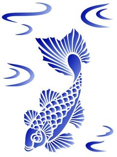 1000 images about silhouette on pinterest silhouette for Koi fish stencil