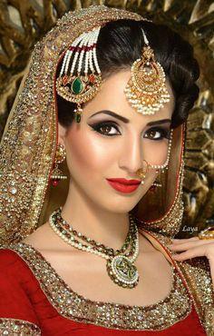 new bridal jhumka and nose ring 2015 Indian Bridal Makeup, Asian Bridal, Bridal Hair And Makeup, Bride Makeup, Bridal Beauty, Desi Bride, Pakistani Bridal, African Hairstyles, Bridal Looks