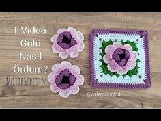 Crochet Potholders, Crochet Tote, Crochet Chart, Crochet Doilies, Crochet Flowers, Crochet Square Patterns, Crochet Squares, Crochet Granny, Crochet Videos