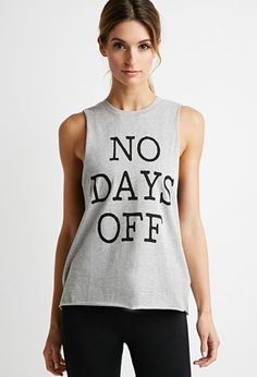 Days Off Muscle Tee | Forever 21 - 2000145781