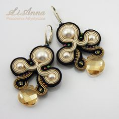 Check out our earrings selection for the very best in unique or custom, handmade pieces from our shops. Clay Jewelry, Jewelry Crafts, Beaded Jewelry, Handmade Jewelry, Soutache Tutorial, Soutache Necklace, Earring Trends, Small Earrings, Embroidery Jewelry