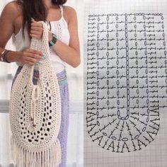 Bolsos Free Crochet Bag, Crochet Market Bag, Crochet Tote, Crochet Handbags, Crochet Purses, Crochet Basics, Crochet Gifts, Crochet Baby, Knit Crochet