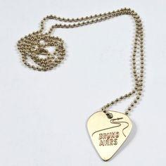 Bruno Mars - Gold Guitar Pick Necklace