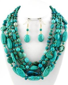 Turquoise - love this but the necklace would need to be a bit longer.