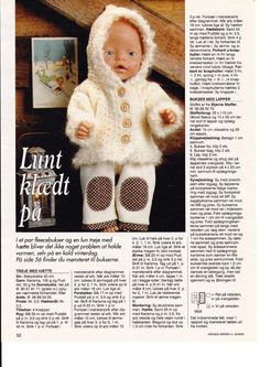 View album on Yandex. Knitting Dolls Clothes, Doll Clothes Patterns, Doll Patterns, Clothing Patterns, Knitting Patterns Free, Free Knitting, Baby Born Clothes, Baby Alive, Reborn Dolls