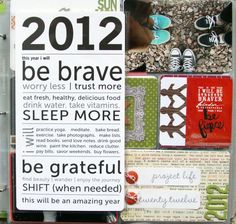 2013 project life manifesto...love the typeface!