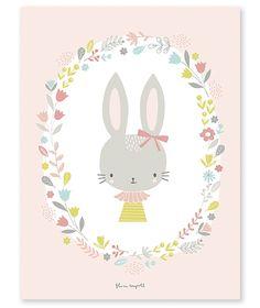<h3>Affiche enfant rose lapin fille</h3><p>Affiche d