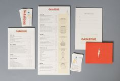 Gabardine  Point Loma, California  Designed by Bex Brands.    One of five textile inspired eateries in the Fabric of Social Dining suite by Enlightened Hospitality Group, Gabardine's Art Deco menu is as typographically tightly woven as the name suggests.    Visit Gabardine.