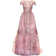 satinee.polyvore.com - Zuhair Murad Couture 2017 ❤ liked on Polyvore featuring dresses, gowns, vestidos, couture gowns, pink ball gown, pink dress, couture evening dresses and couture ball gowns