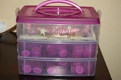 Smart way to carry and organize the Scentsy mini testers.  :)
