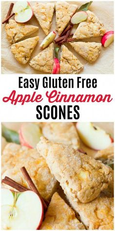 These Easy Gluten Free Apple Cinnamon Scones are a special breakfast treat! They… These Easy Gluten Free Apple Cinnamon Scones Gluten Free Pastry, Gluten Free Scones, Gluten Free Recipes For Breakfast, Gluten Free Breakfasts, Brunch Recipes, Breakfast Healthy, Dinner Recipes, Gluten Free Breakfast Casserole, Healthy Scones