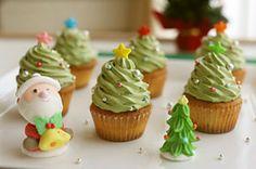Mini Christmast Tree Cupcake