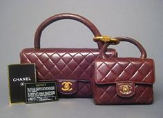 Chanel Brown Quilted Double Set Flap Bag