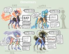 Elementaurs _ Open species by griffsnuff.deviantart.com on @DeviantArt