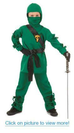 Green Wolf Ninja Kids Costume