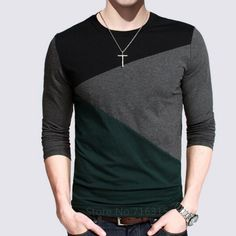 12 Designs 2016 Fashion Men's Casual T Shirts Long Sleeve Polo Shirt Striped Cotton Fitted T-Shirt Men Top Tees