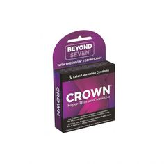 Crown Natural Rubber Latex Condoms Lightly Lubricated