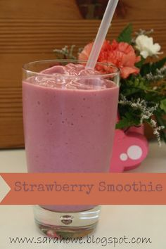 Healthy Breakfast: Strawberry Protein Smoothie