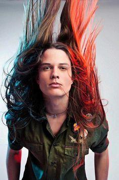 lucas kittel Long hair man alternative model boy man https://www.facebook.com/alternativestylepolska