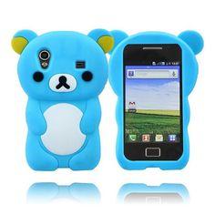 Cute Bear (Lys Blå) Samsung Galaxy Ace Deksel