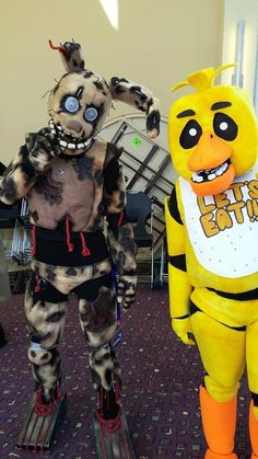 springtrap and chica cosplay