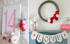 Ideas para decorar para decorar rincón chimenea San Valentín