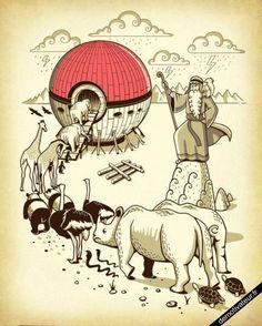 11/3 L'arche de Noé selon Pokémon OU Comment voyager avec 2 chiens et 4 chats + une poule ( suite demande de ma nièce ... ! )