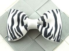 Zebra Print Hair Bow  2.5 Inch Hair Bow for Teens  Teen Snap Clips  Zebra Print Bows  Girls Hair Clip  Hair Accessory  Small Barrettes (2.50 USD) by OneofEverythingBows
