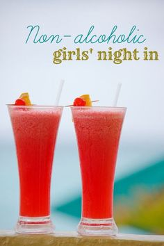 Girls night in drinks (minus the alcohol). Perfect for all the baby showers I have coming up this summer.