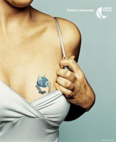 OSTRICH, Tattoo Removal Service, LOWE Bull, Print, Outdoor, Ads
