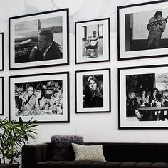 Shop David Bowie and Romy Haag with White Frame David Bowie and Romy Haag soak up a moment together at the Alcazar Parisian Cabaret in Photo courtesy of Bridgeman Images. Black And White Picture Wall, Black And White Frames, Black And White Pictures, Black Framed Art, Collage Frames, Frames On Wall, Home Decor Mirrors, Wall Art Decor, Mirror Art