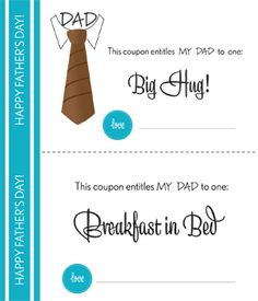 father's day coupon book craft