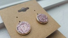 Ear candy // sparkly earrings // pink studs by theSplitRail