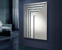 Espejo moderno de cristal Modelo Brooklyn Linea. Tu tienda online de espejos modernos www.decoracionbeltran.com