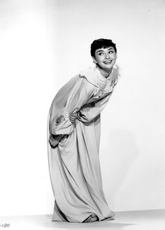 Audrey Hepburn in a promotional still for ROMAN HOLIDAY ('53)