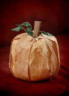 Toilet paper pumpkins.  I love this bc when Fall is over you can still use the toilet paper! :)