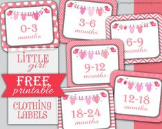 Little Girl Clothing Labels Free Printable