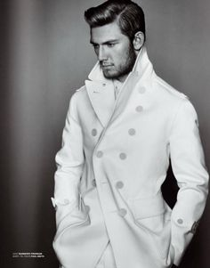 Absolutely love the coat... okay and he's nice to look at too ;P