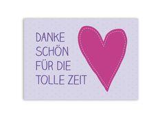 Danke+Karte+Abschied+Kindergarten+Schule+von+OOH+HAPPY+DAY+auf+DaWanda.com