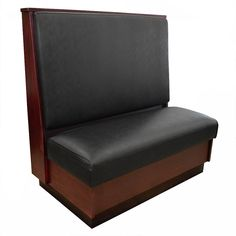 Volant Amish-Made Wooden Single Restaurant Booth with Upholstered Seat | Restaurant Furniture