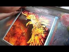 "Spray paint Art by Brent Willis ""PHOENIX FEATHER X"" - YouTube"
