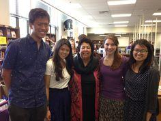 Razia Jan with IB coordinators at Omaha Central High School.
