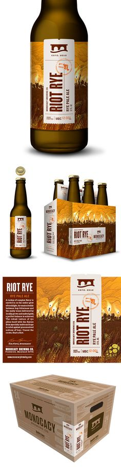 Riot Rye * Monocacy Brewing Company - Designed by Tribe #beer #package