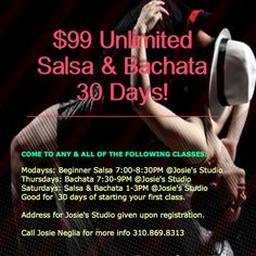 UNLIMITED: 30 Days of Salsa & Bachata $99